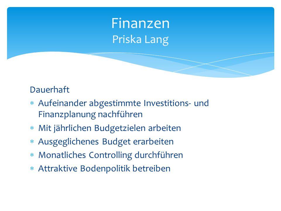 Finanzen Priska Lang Dauerhaft