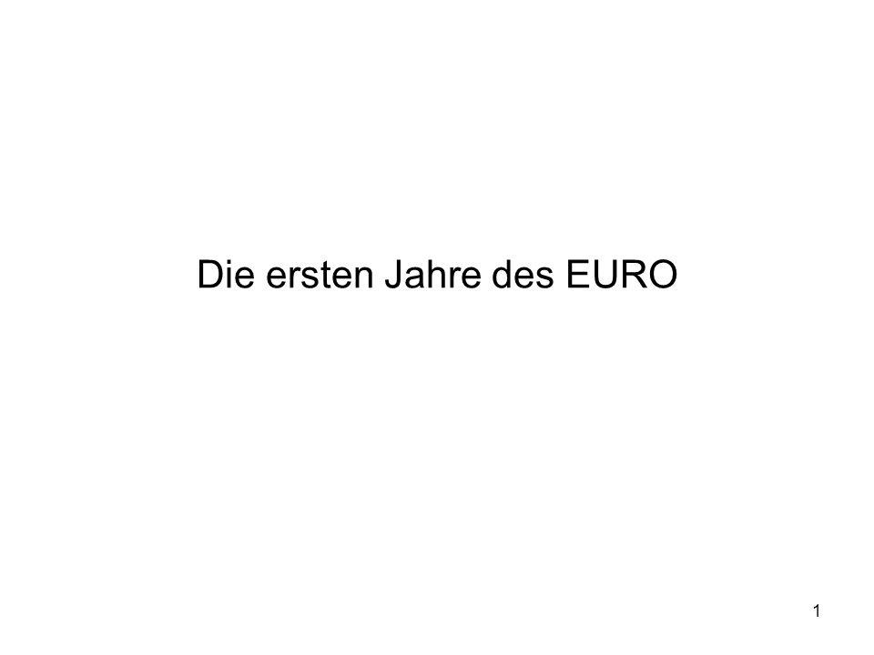 Die ersten Jahre des EURO