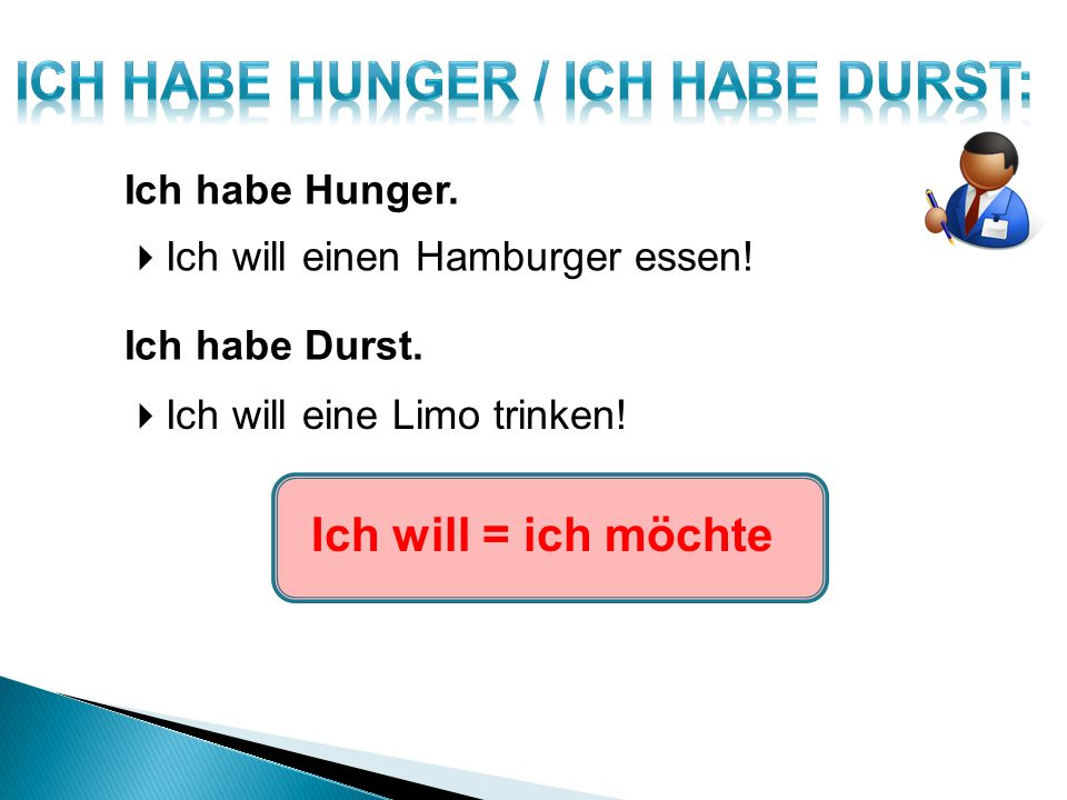 ICH HABE HUNGER / ICH HABE DURST: