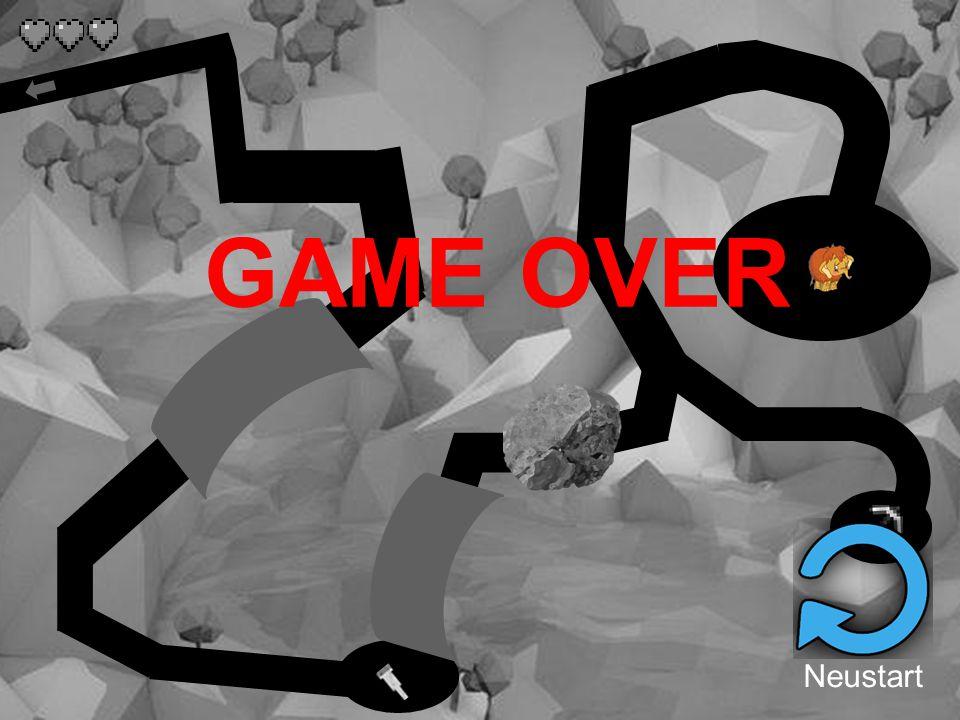 GAME OVER Neustart