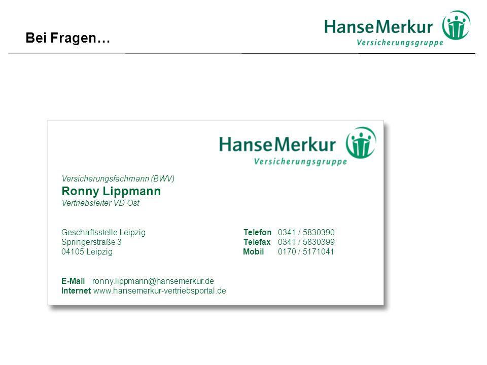 Bei Fragen… Ronny Lippmann Versicherungsfachmann (BWV)