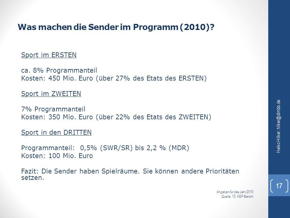 Was machen die Sender im Programm (2010)