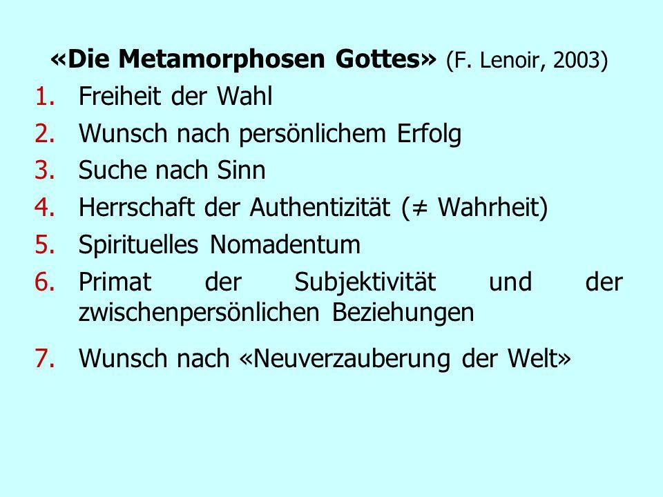 «Die Metamorphosen Gottes» (F. Lenoir, 2003)