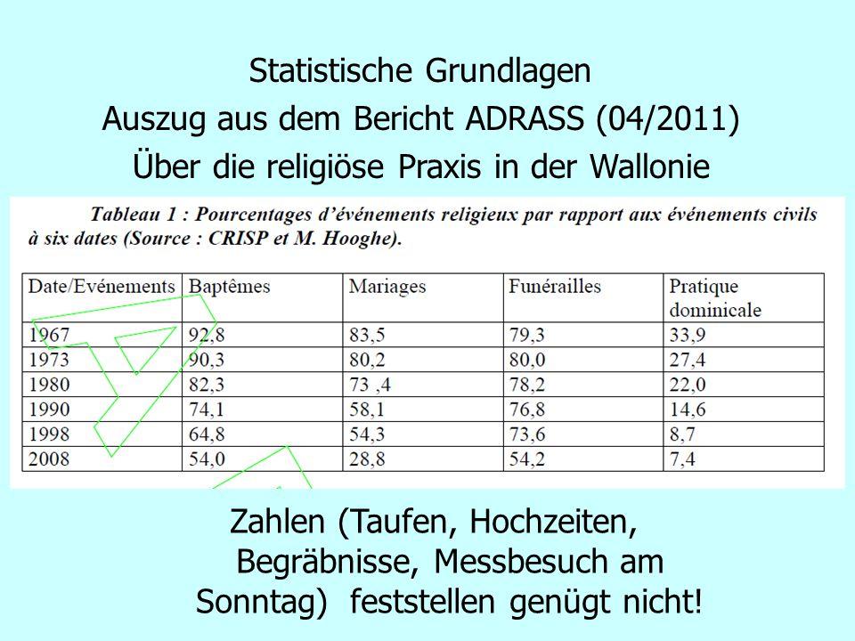 Statistische Grundlagen Auszug aus dem Bericht ADRASS (04/2011)