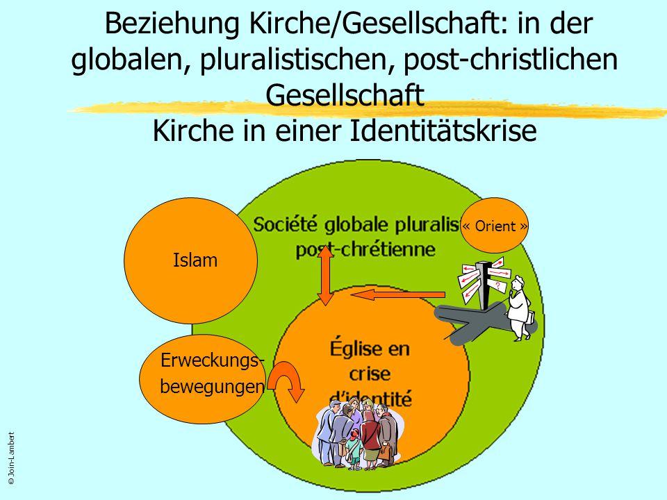Beziehung Kirche/Gesellschaft: in der globalen, pluralistischen, post-christlichen Gesellschaft Kirche in einer Identitätskrise