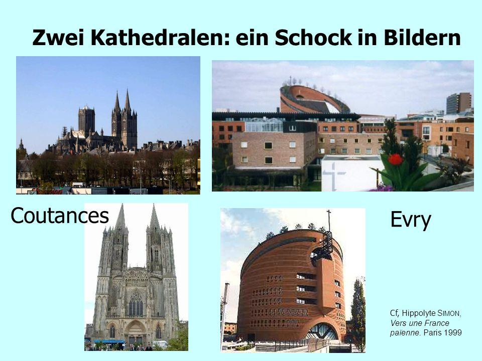 Zwei Kathedralen: ein Schock in Bildern