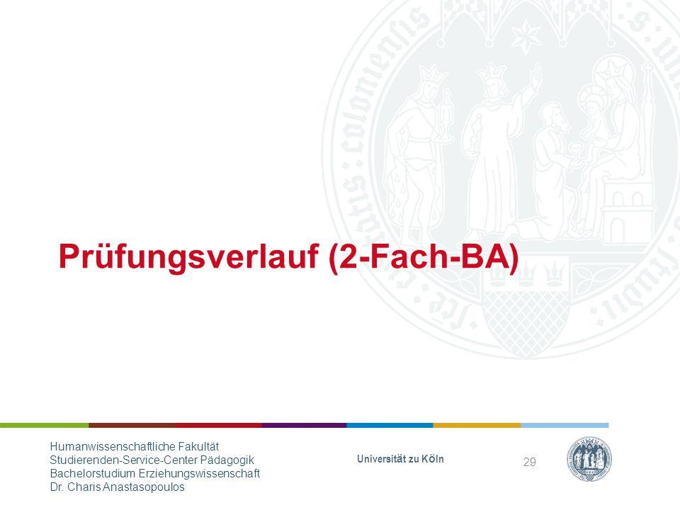 Prüfungsverlauf (2-Fach-BA)