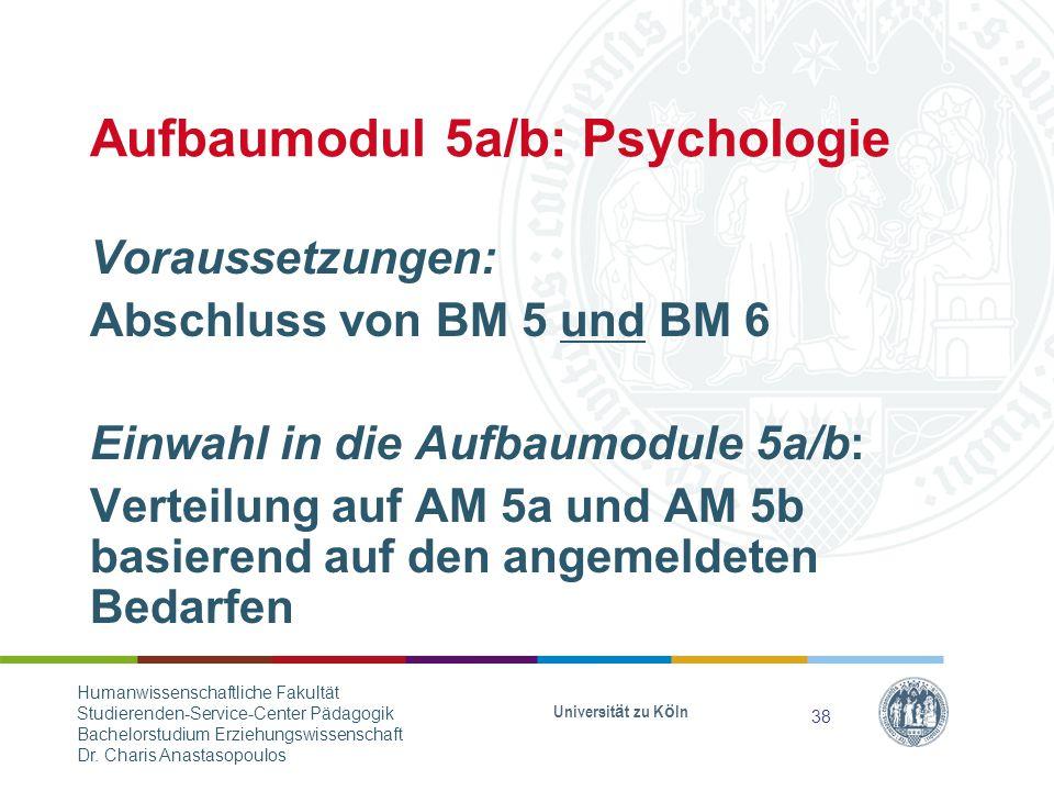 Aufbaumodul 5a/b: Psychologie