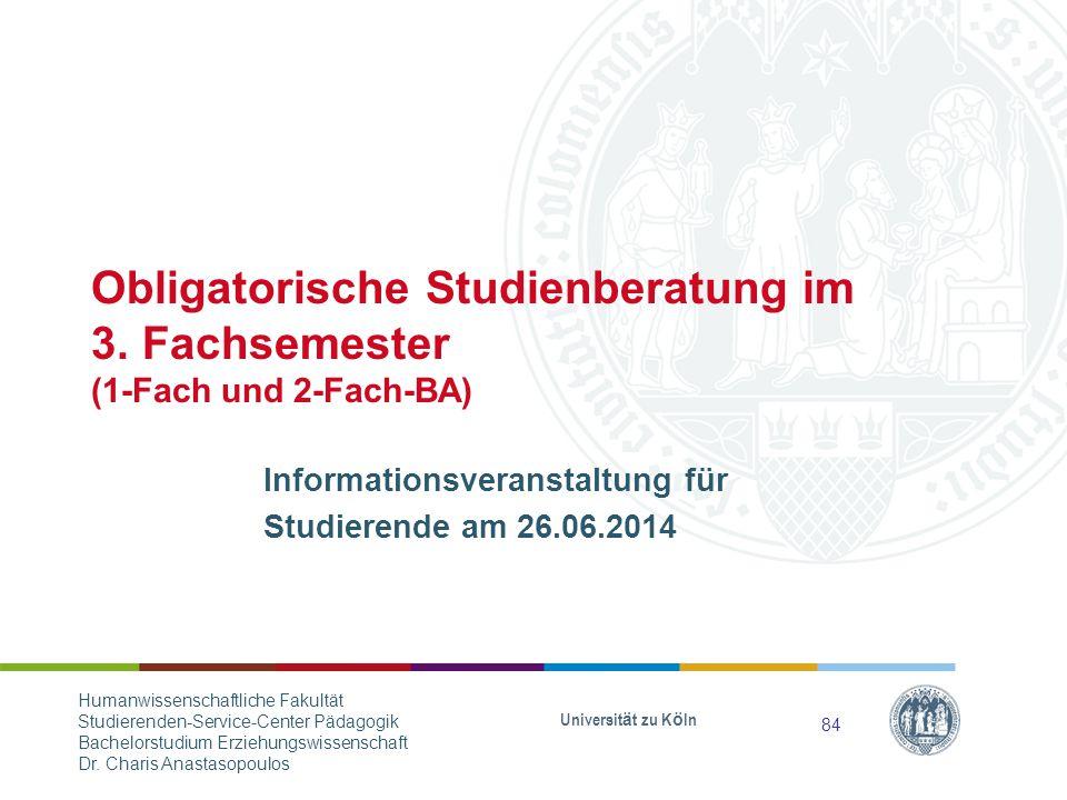 Informationsveranstaltung für Studierende am 26.06.2014