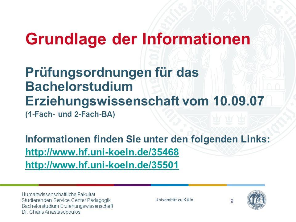 Grundlage der Informationen