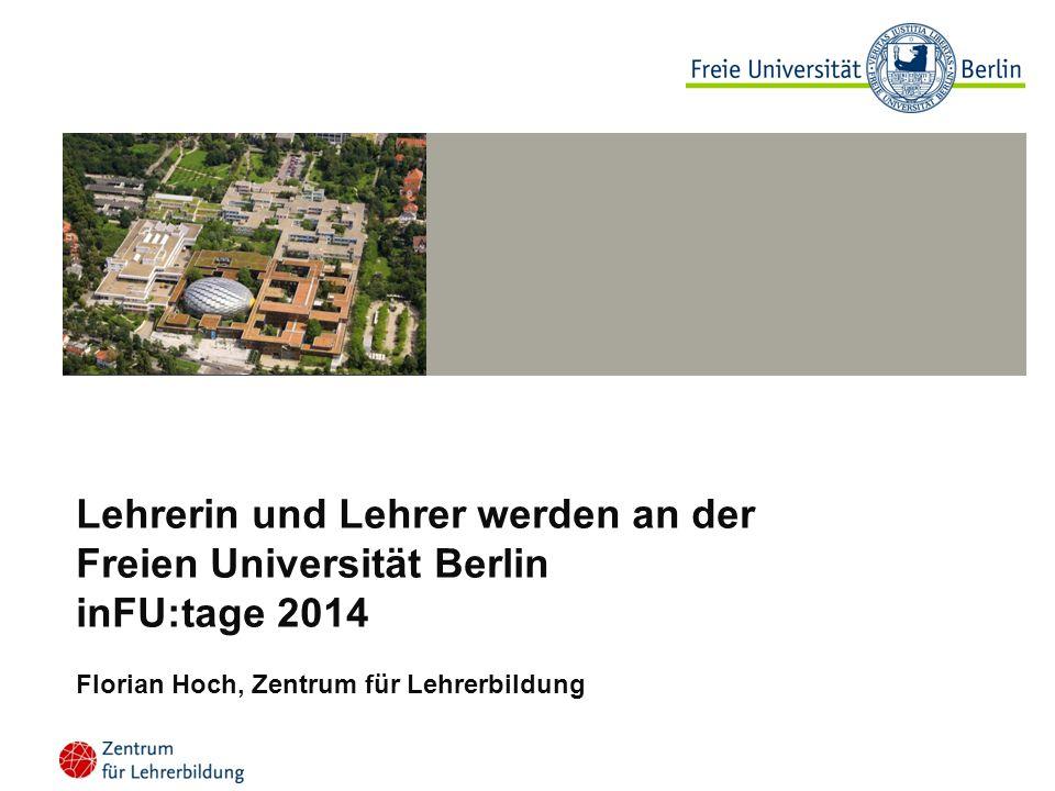 Lehrerin und Lehrer werden an der Freien Universität Berlin