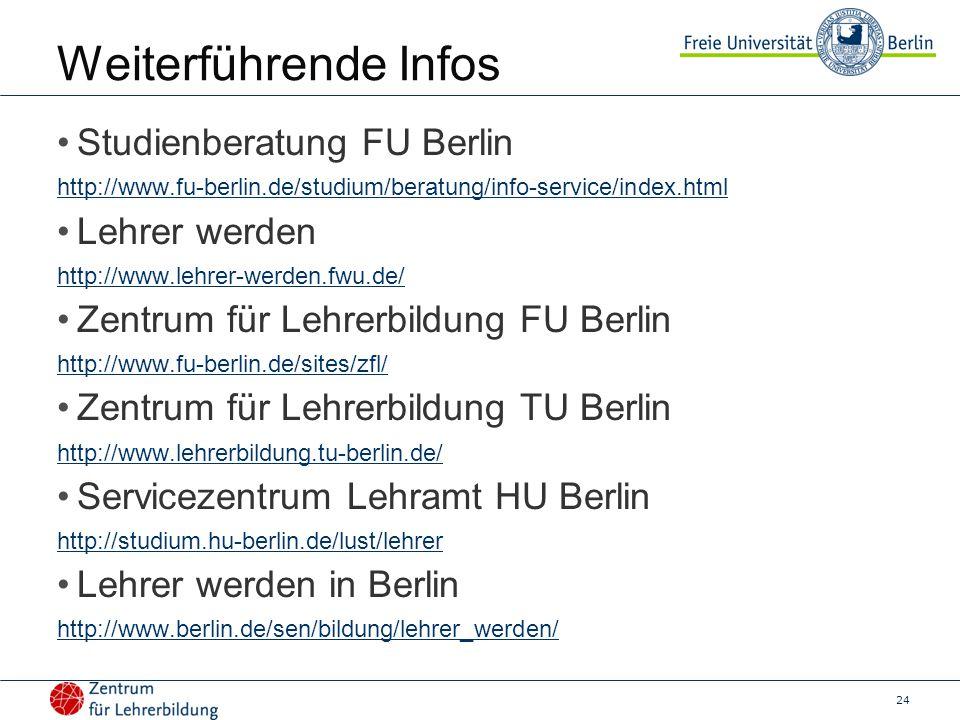 Weiterführende Infos Studienberatung FU Berlin Lehrer werden
