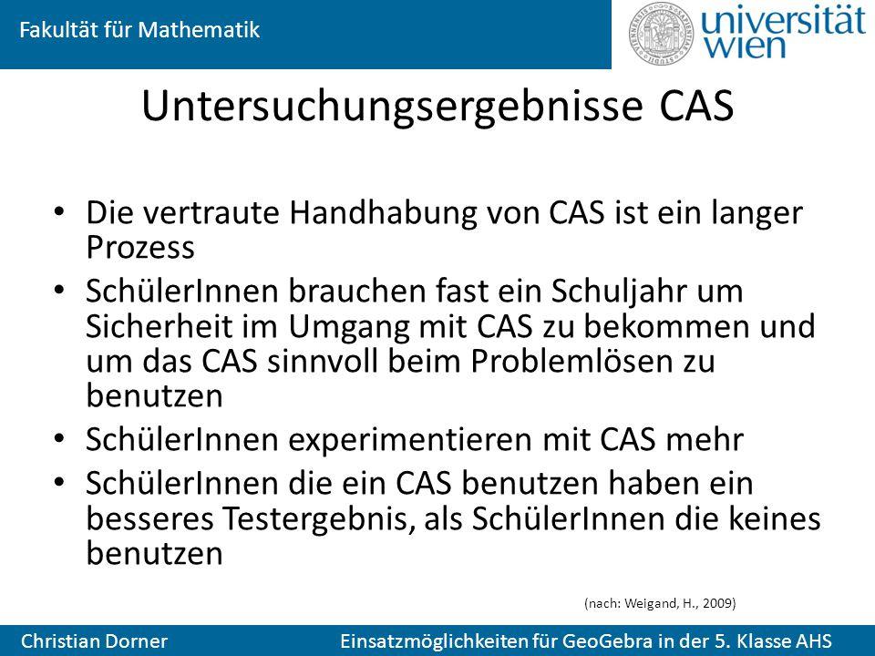 Untersuchungsergebnisse CAS