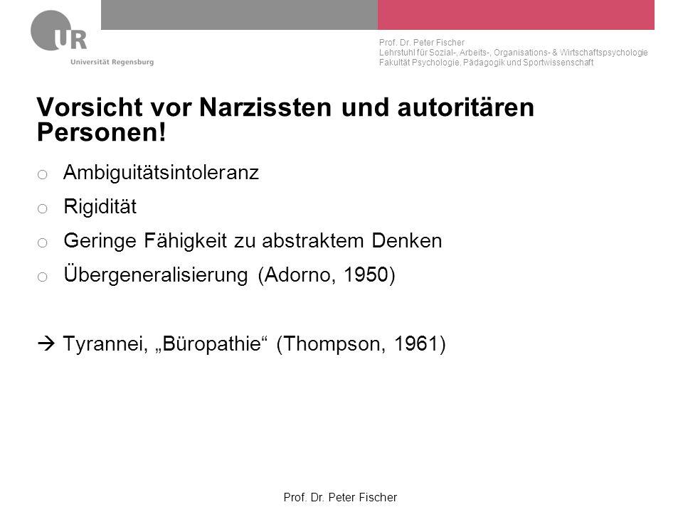 Vorsicht vor Narzissten und autoritären Personen!