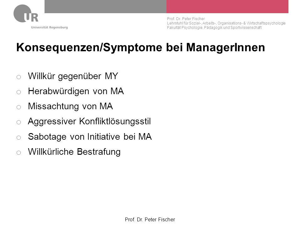 Konsequenzen/Symptome bei ManagerInnen