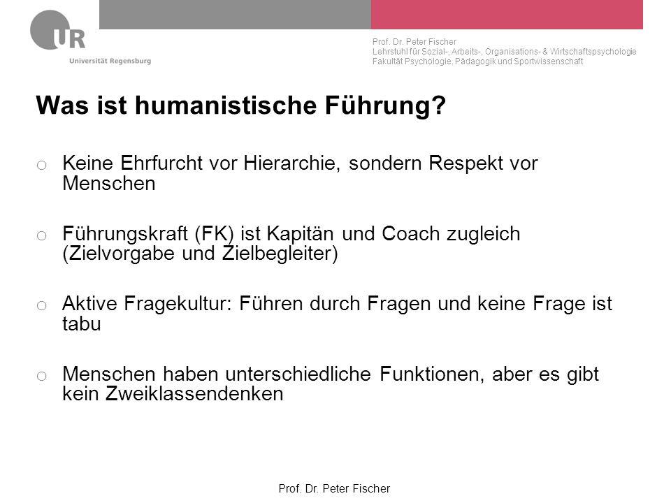 Was ist humanistische Führung