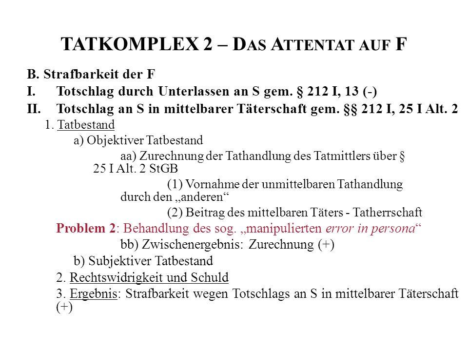 TATKOMPLEX 2 – Das Attentat auf F
