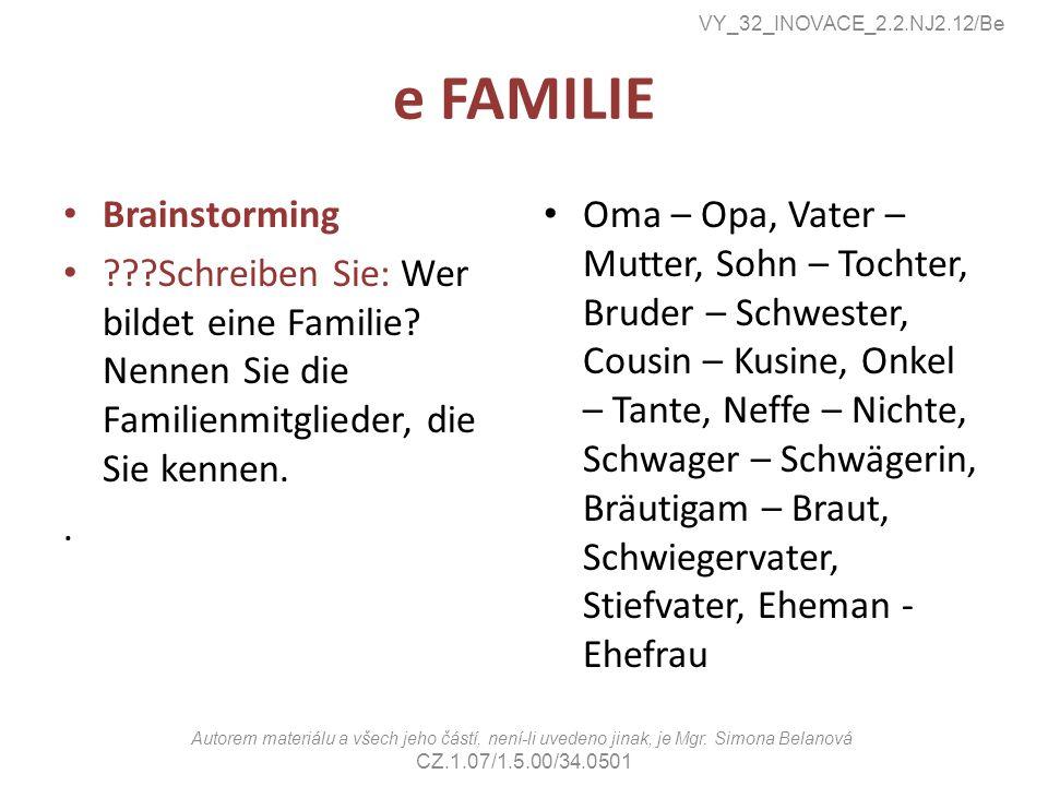 e FAMILIE Brainstorming