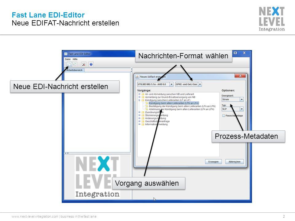 Neue EDIFAT-Nachricht erstellen