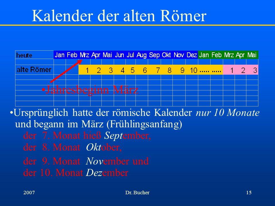 Kalender der alten Römer
