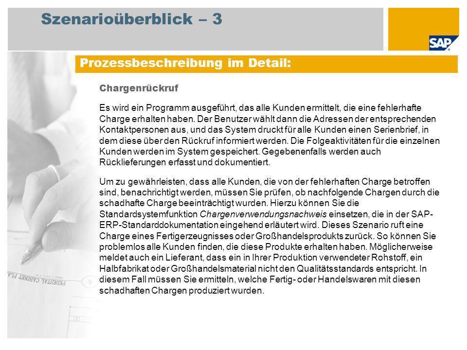 Szenarioüberblick – 3 Prozessbeschreibung im Detail: Chargenrückruf