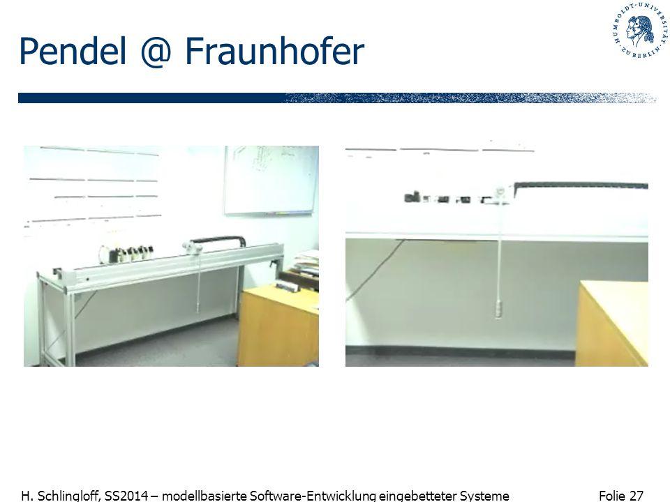 Pendel @ Fraunhofer