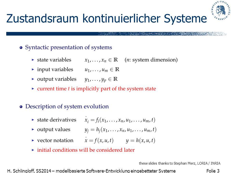 Zustandsraum kontinuierlicher Systeme