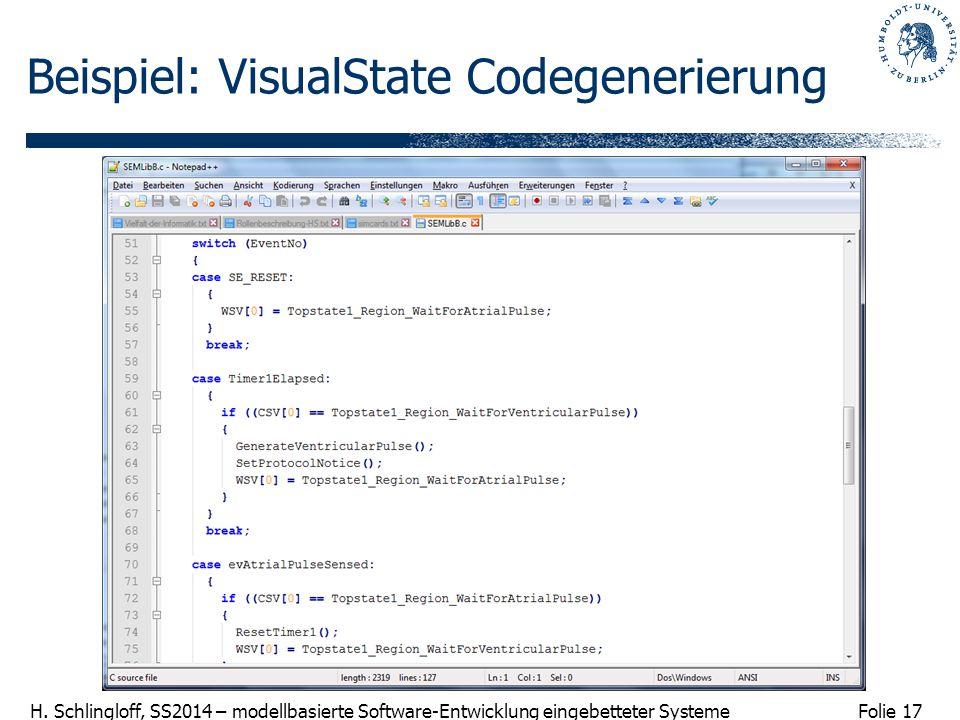 Beispiel: VisualState Codegenerierung