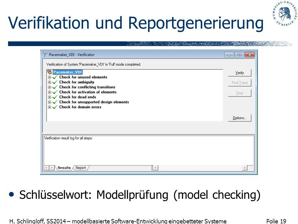 Verifikation und Reportgenerierung