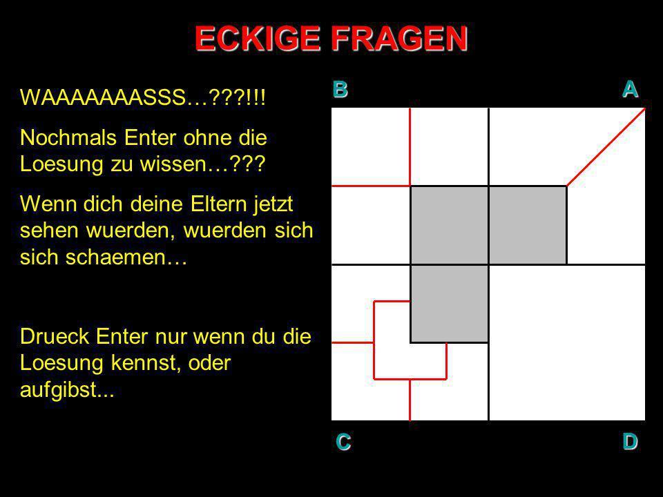 ECKIGE FRAGEN B A D C WAAAAAAASSS… !!!