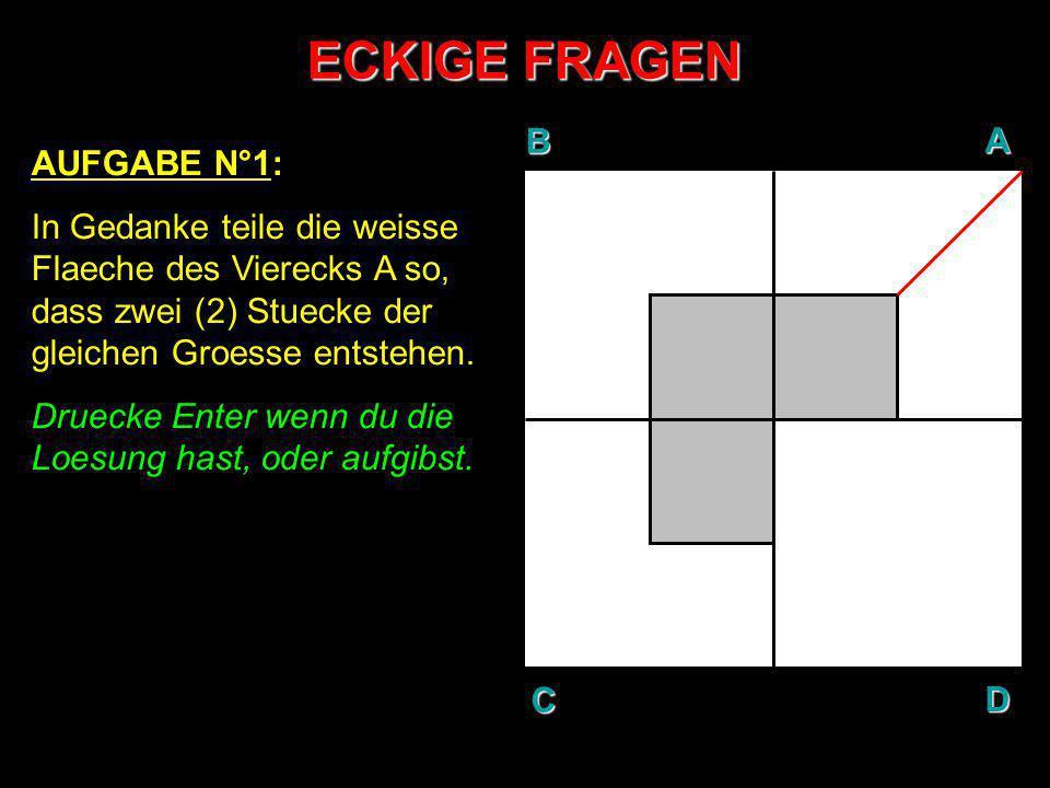 ECKIGE FRAGEN B A D C AUFGABE N°1: