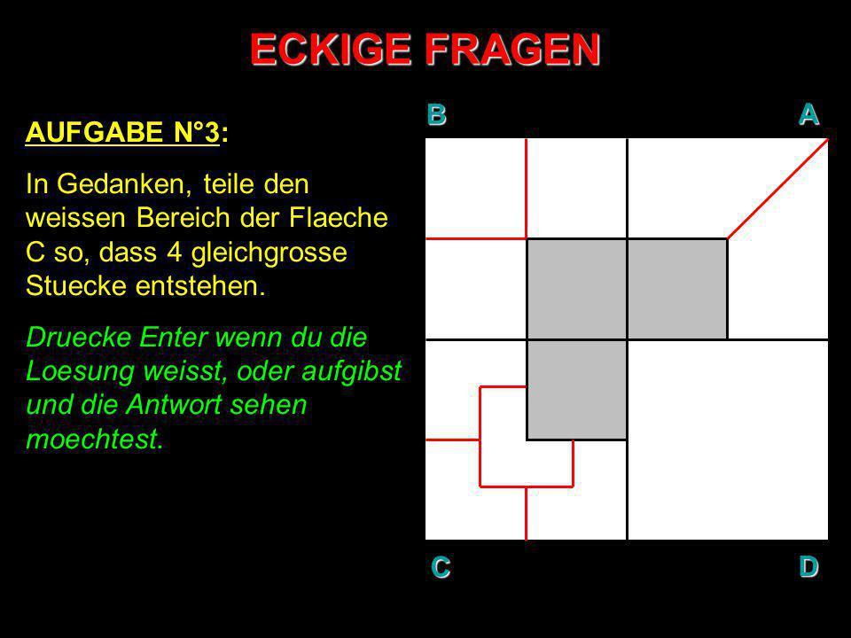 ECKIGE FRAGEN B A D C AUFGABE N°3: