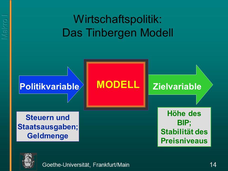 Wirtschaftspolitik: Das Tinbergen Modell