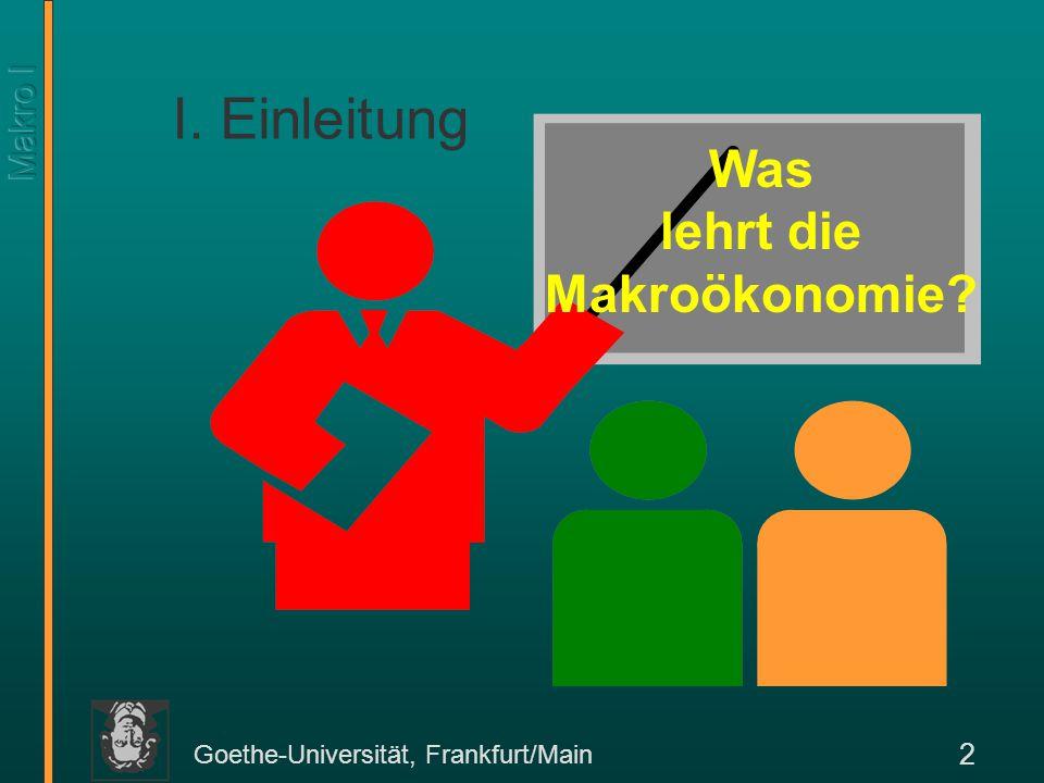 Was lehrt die Makroökonomie