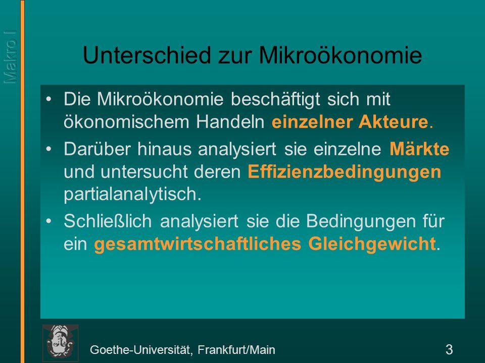 Unterschied zur Mikroökonomie