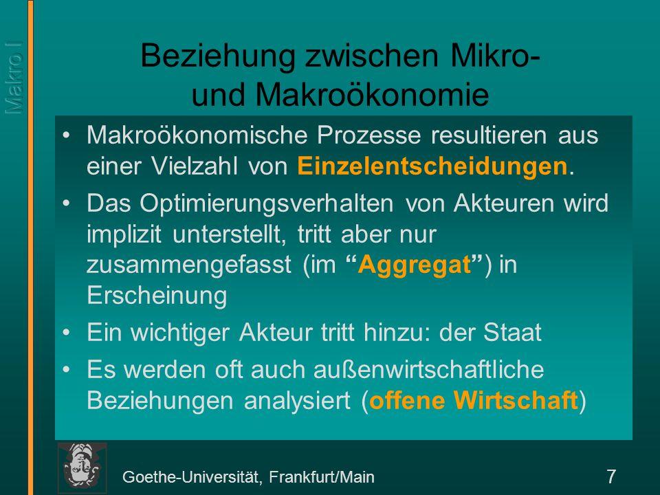 Beziehung zwischen Mikro- und Makroökonomie