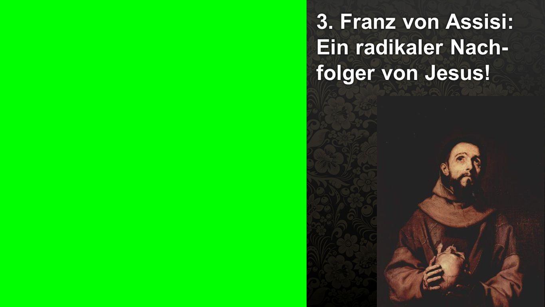 3. Franz von Assisi: Ein radikaler Nach-folger von Jesus!
