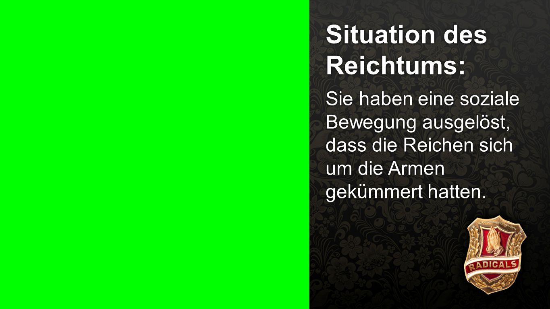 Situation des Reichtums: