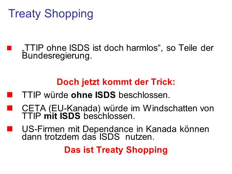 Doch jetzt kommt der Trick: Das ist Treaty Shopping