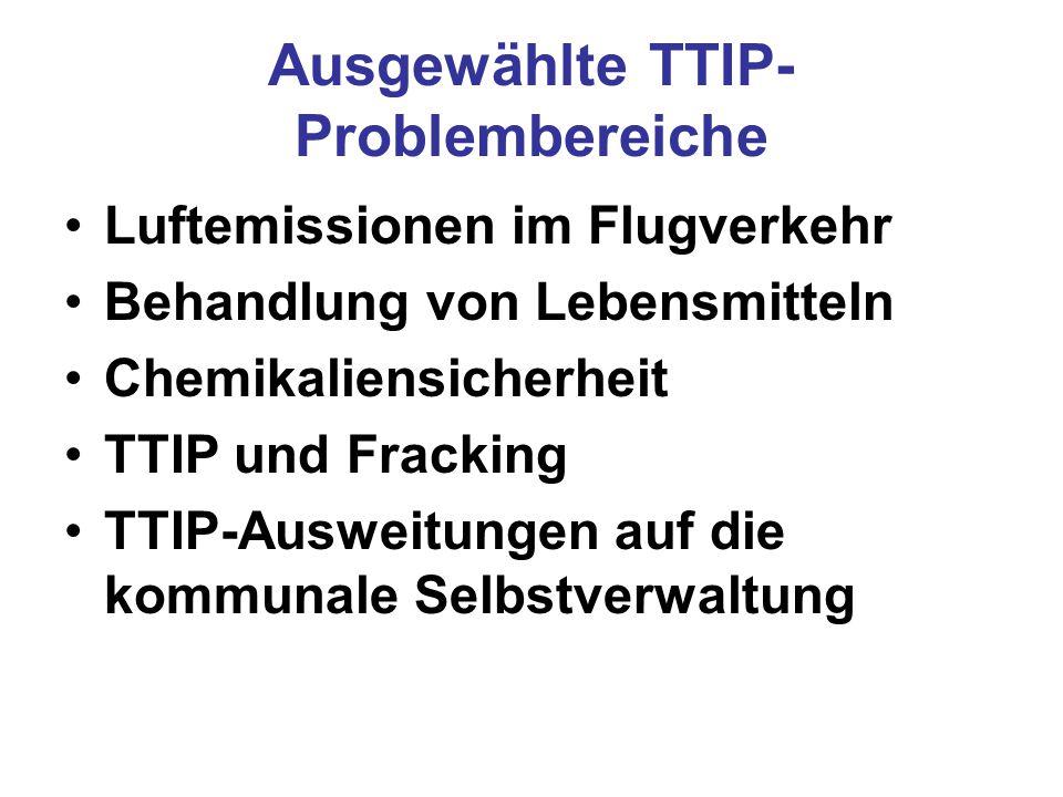 Ausgewählte TTIP-Problembereiche