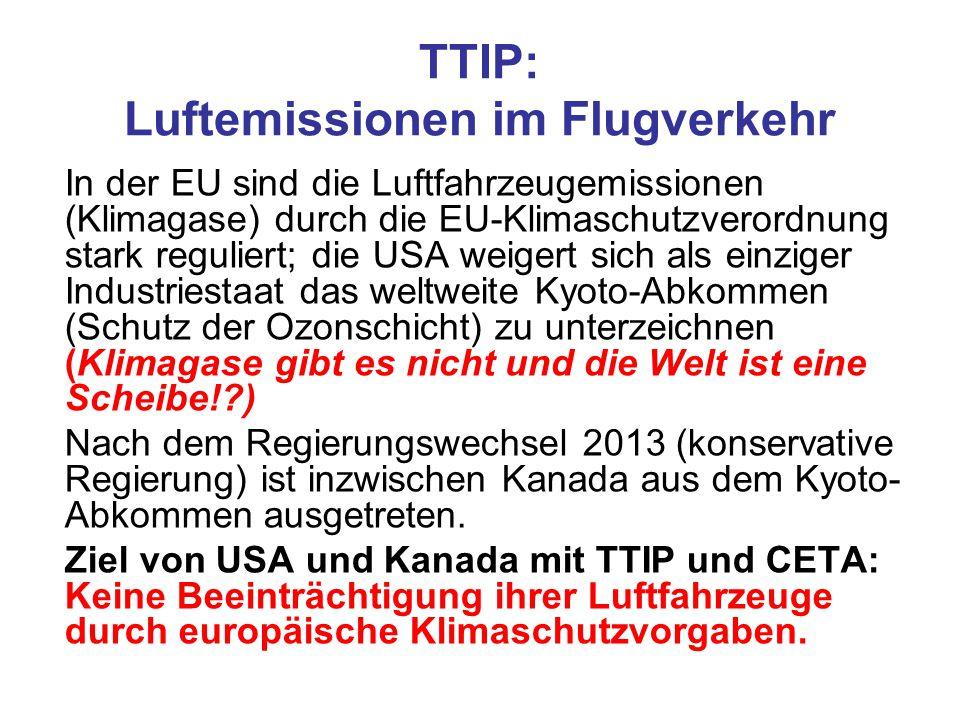 TTIP: Luftemissionen im Flugverkehr