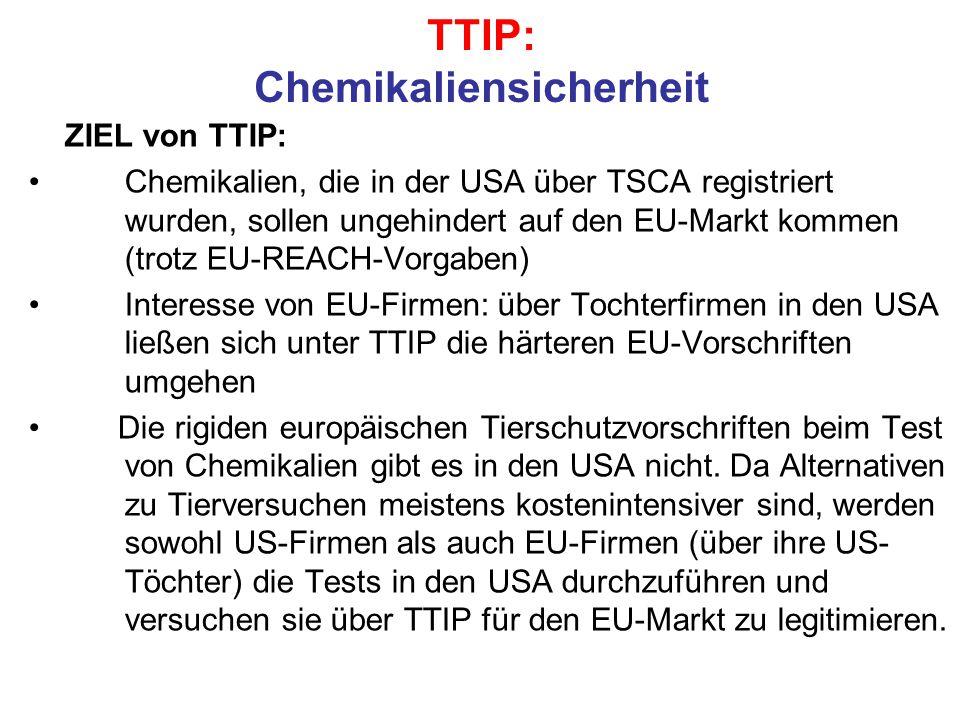 TTIP: Chemikaliensicherheit