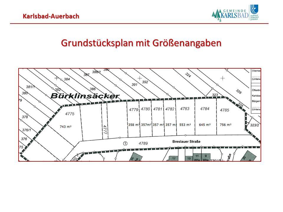 Grundstücksplan mit Größenangaben