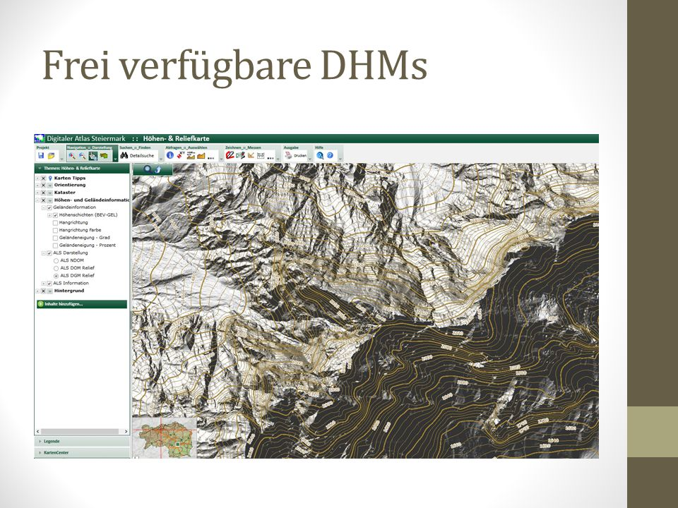 Frei verfügbare DHMs