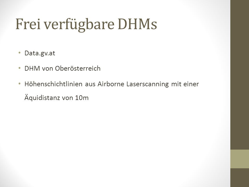 Frei verfügbare DHMs Data.gv.at DHM von Oberösterreich