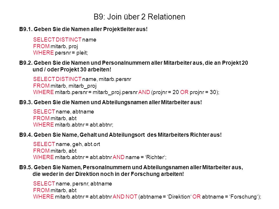 B9: Join über 2 Relationen