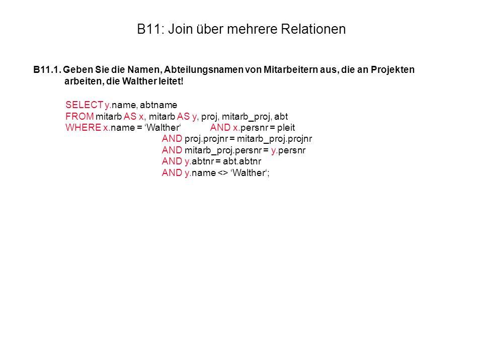 B11: Join über mehrere Relationen