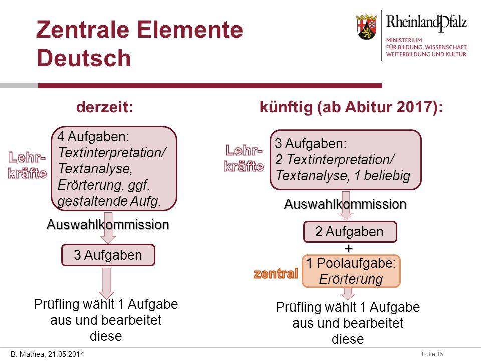Zentrale Elemente Deutsch