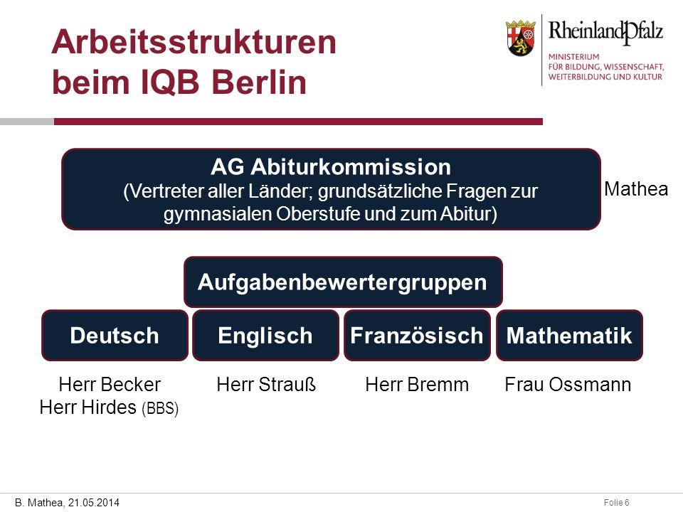 Arbeitsstrukturen beim IQB Berlin