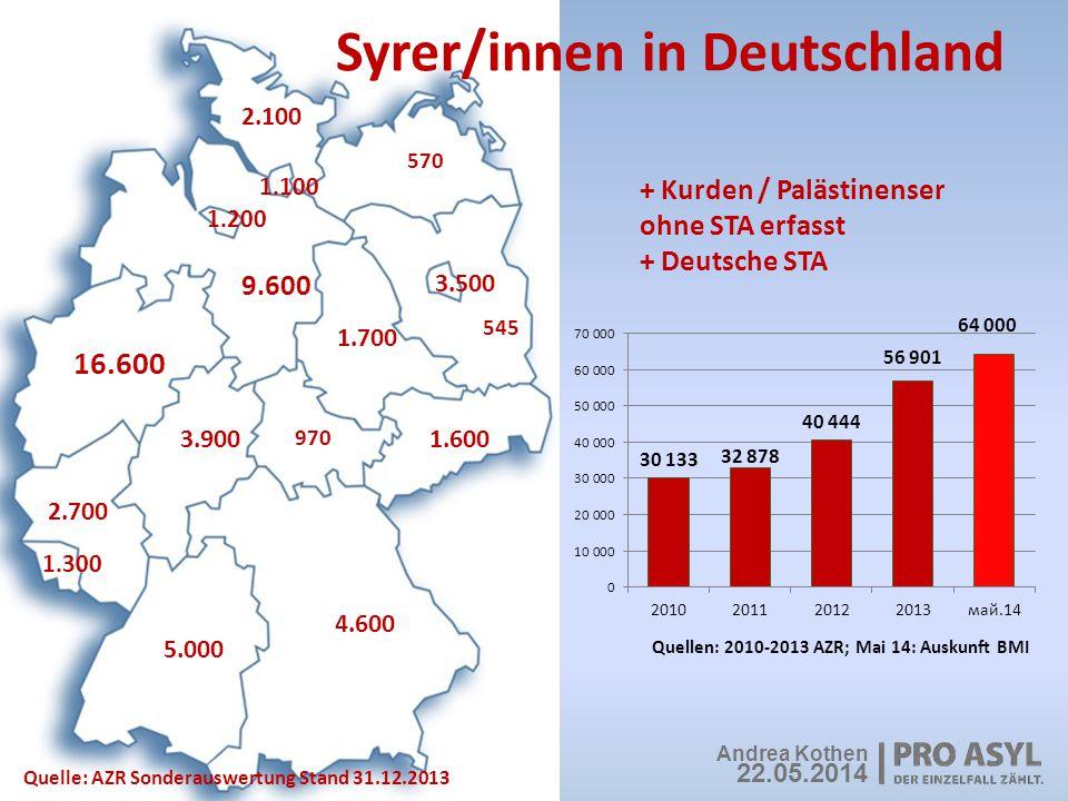 Syrer/innen in Deutschland